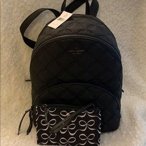 Kate Spade backpack and wristlet